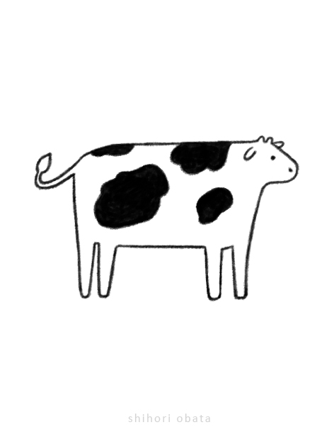 cow drawing easy