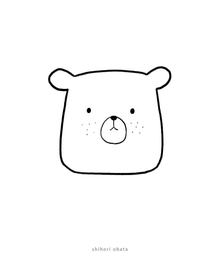 easy bear drawing idea