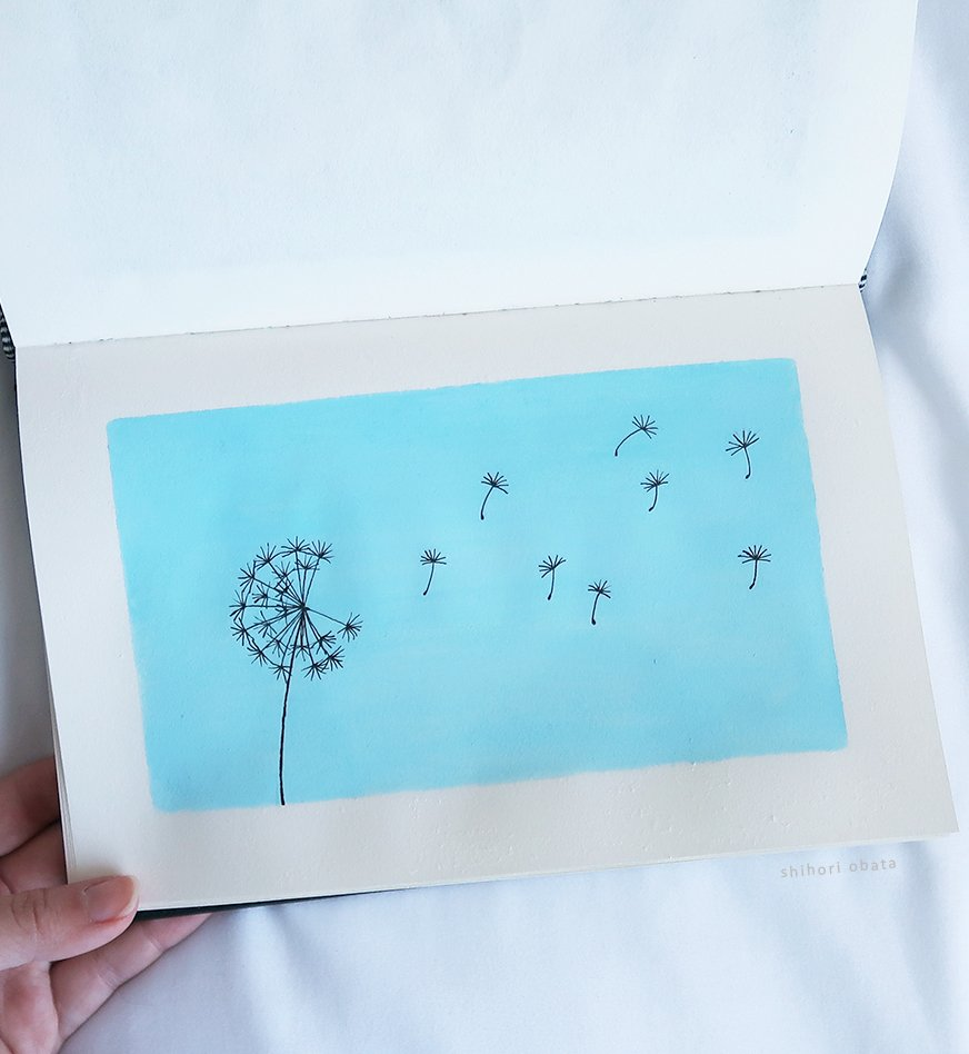 easy things to paint dandelion