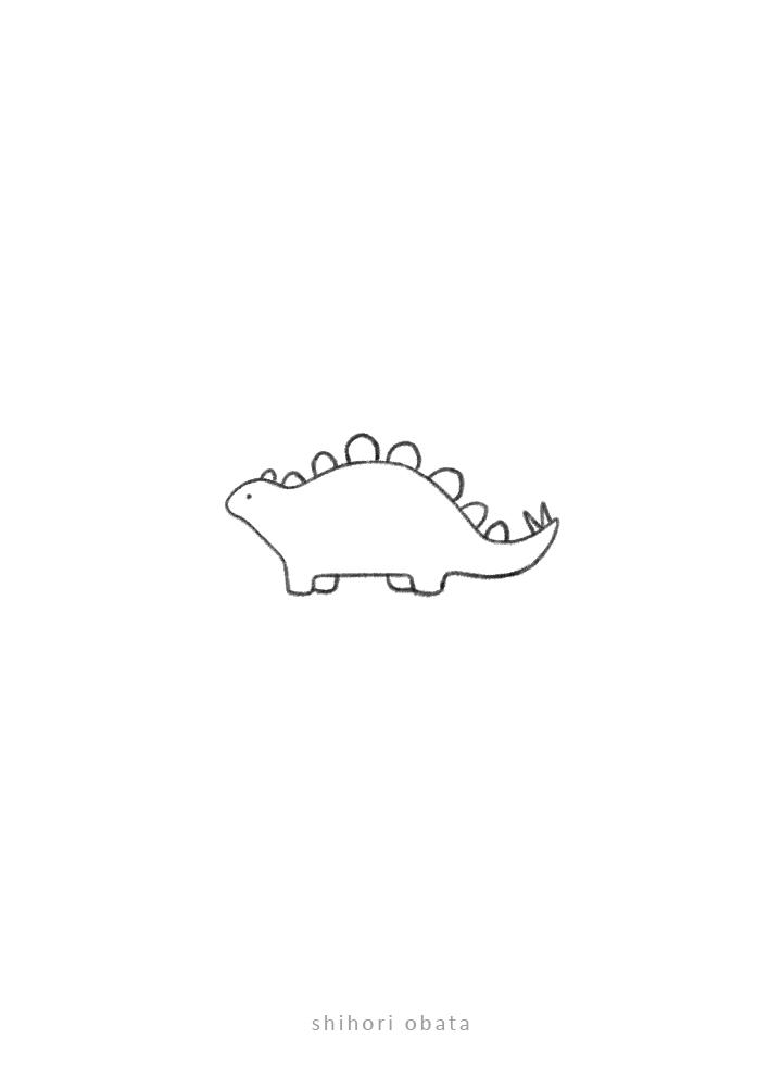 stegosaurus dinosaur drawing doodle
