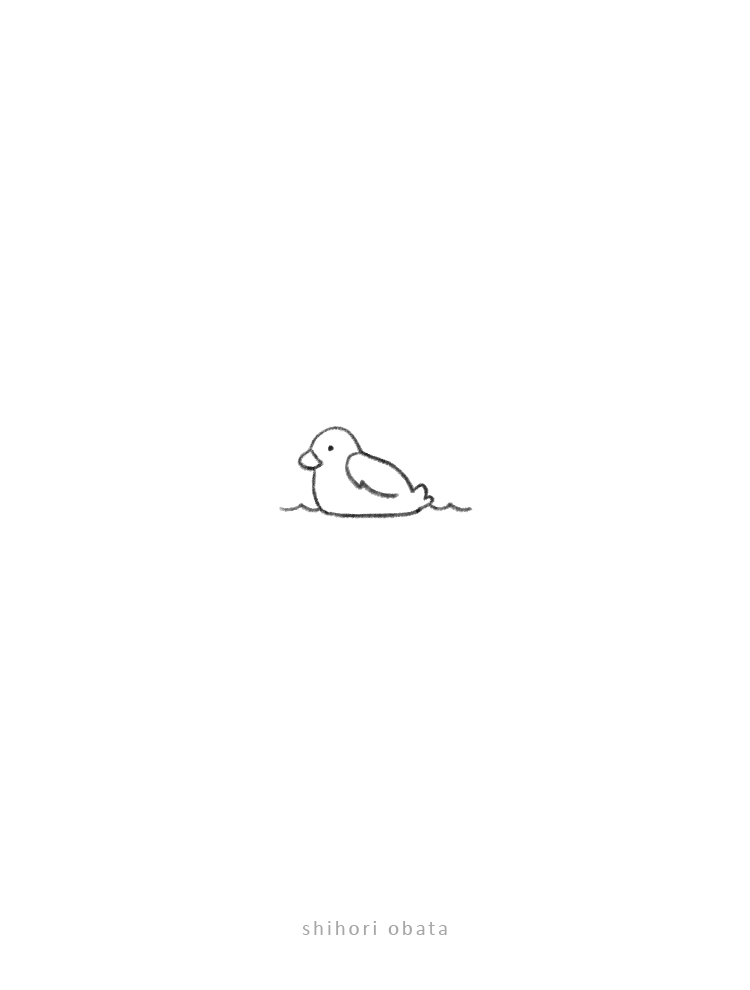 duckling drawing easy