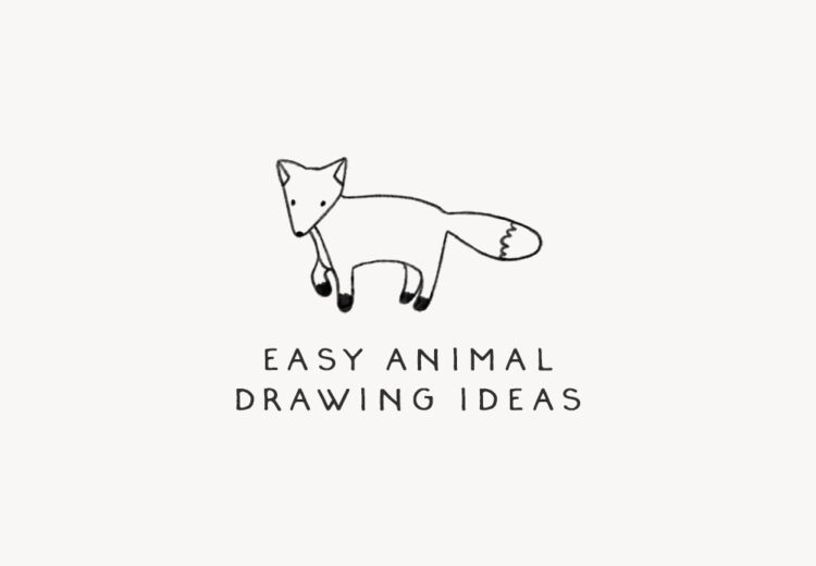 easy animal drawing ideas