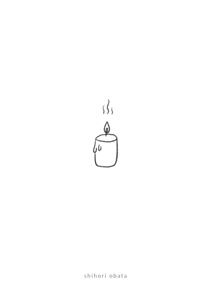 easy simple candle doodle drawing