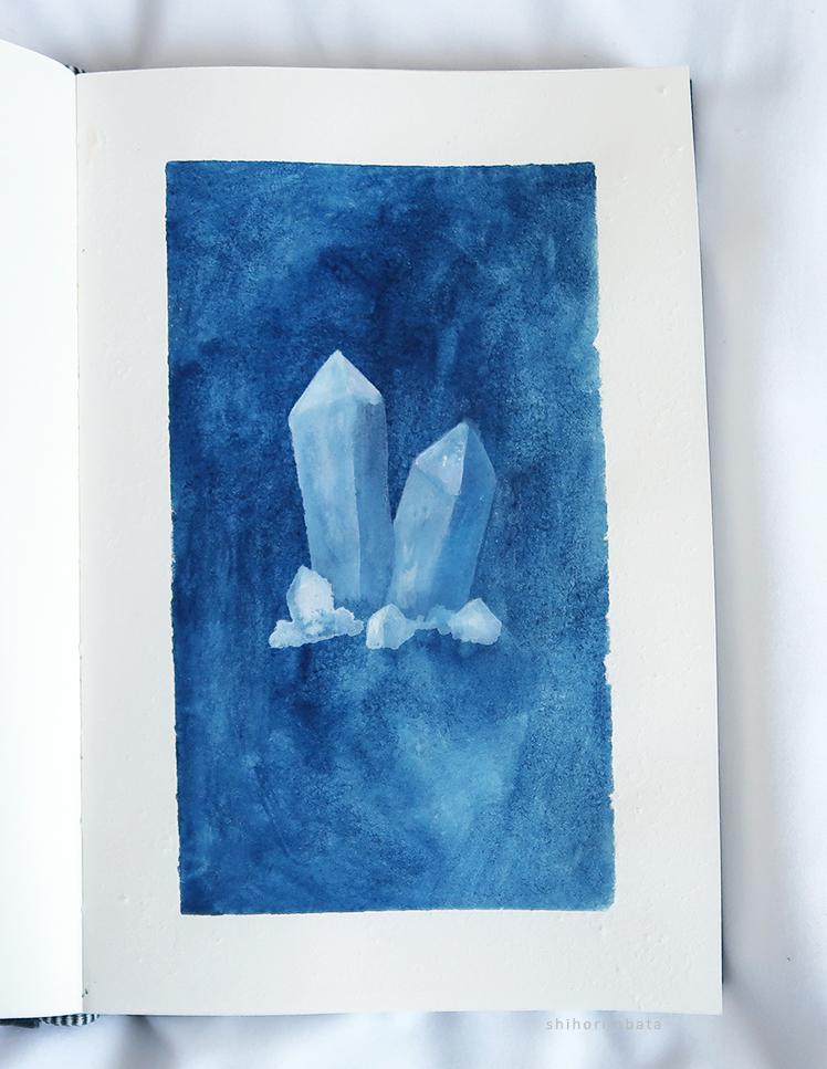 easy crystal gem painting