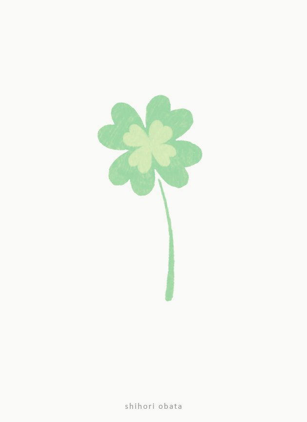 four leaf clover easy drawing idea