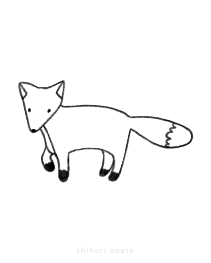 easy fox animal drawing