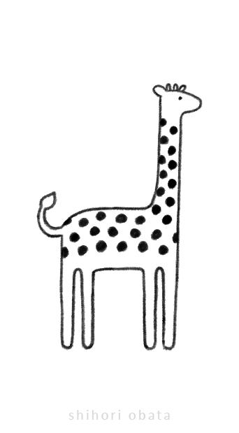 giraffe drawing art
