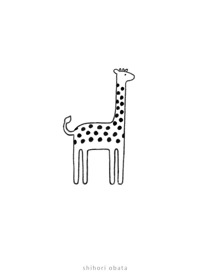 cute giraffe drawing art