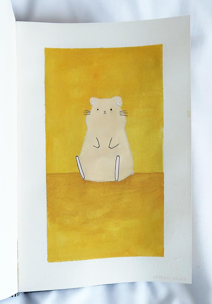 easy hamster art painting