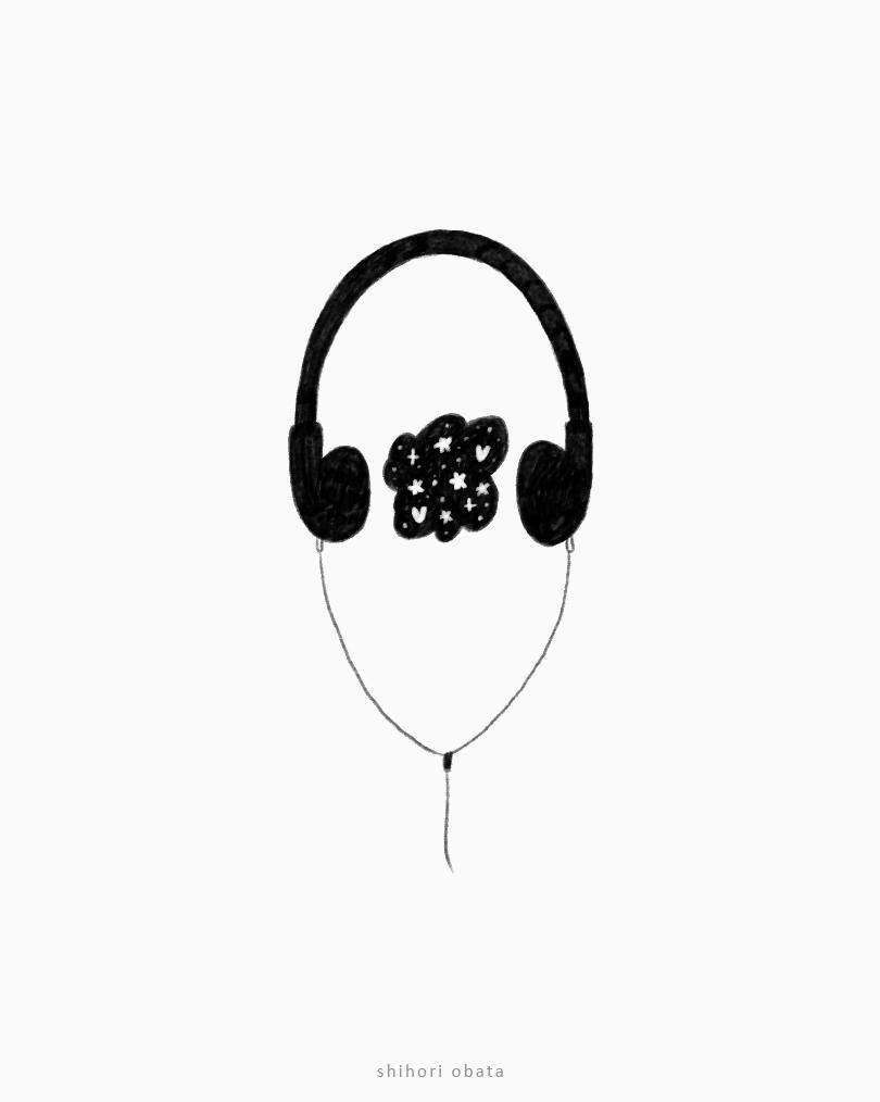 headphones drawing easy