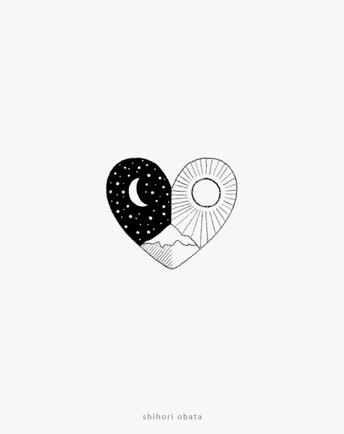 heart mountain drawing