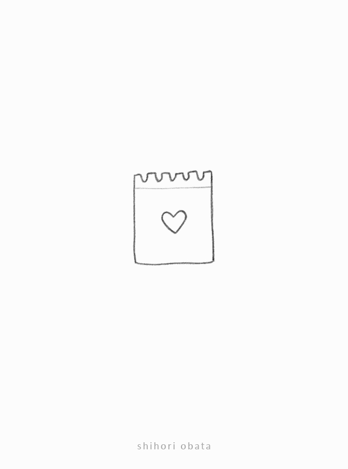 easy note doodle heart
