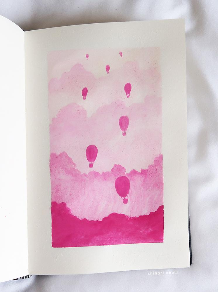 hot air balloons painting