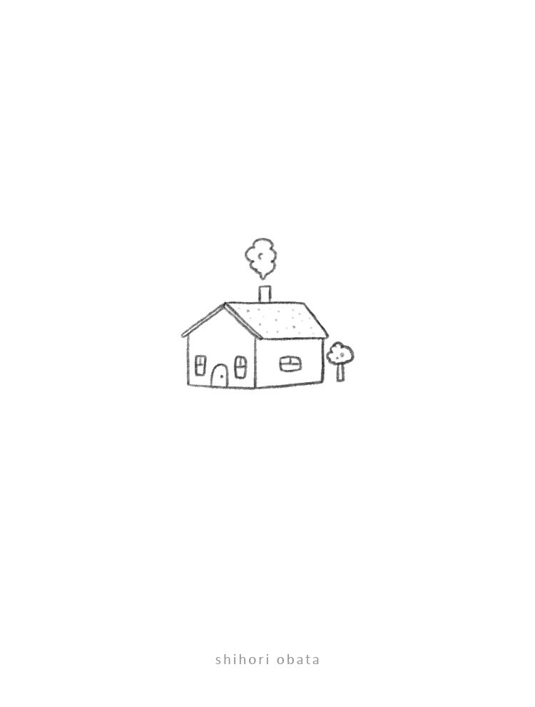 easy house doodle drawing