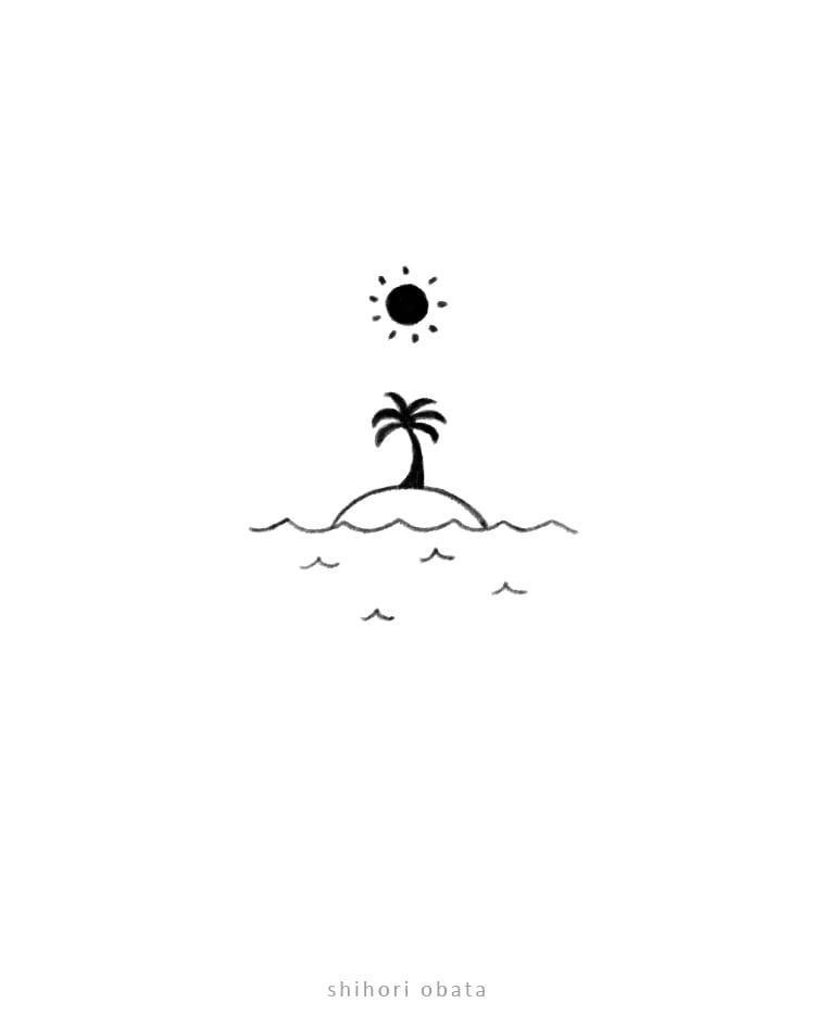 island drawing easy