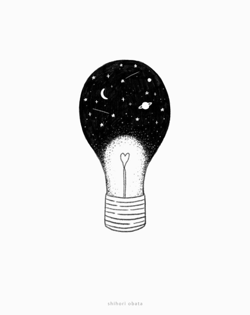 lightbulb drawing easy cool
