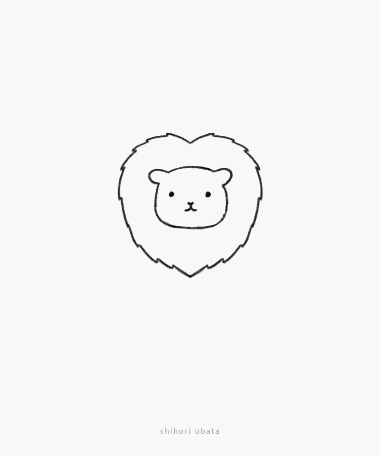 easy simple lion drawing