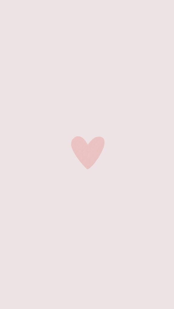 simple heart phone wallpaper