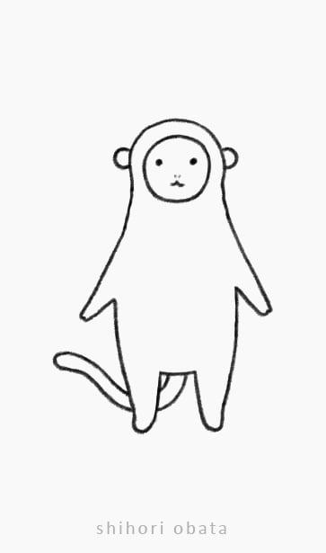 easy monkey drawing