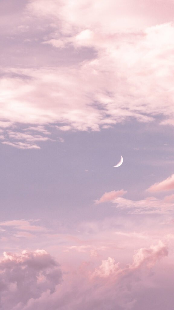 aesthetic phone wallpaper background moon clouds