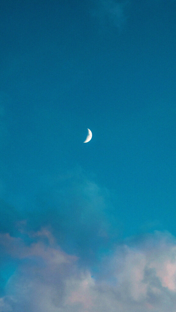 moon clouds phone background