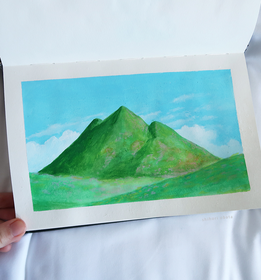 easy mountain painting