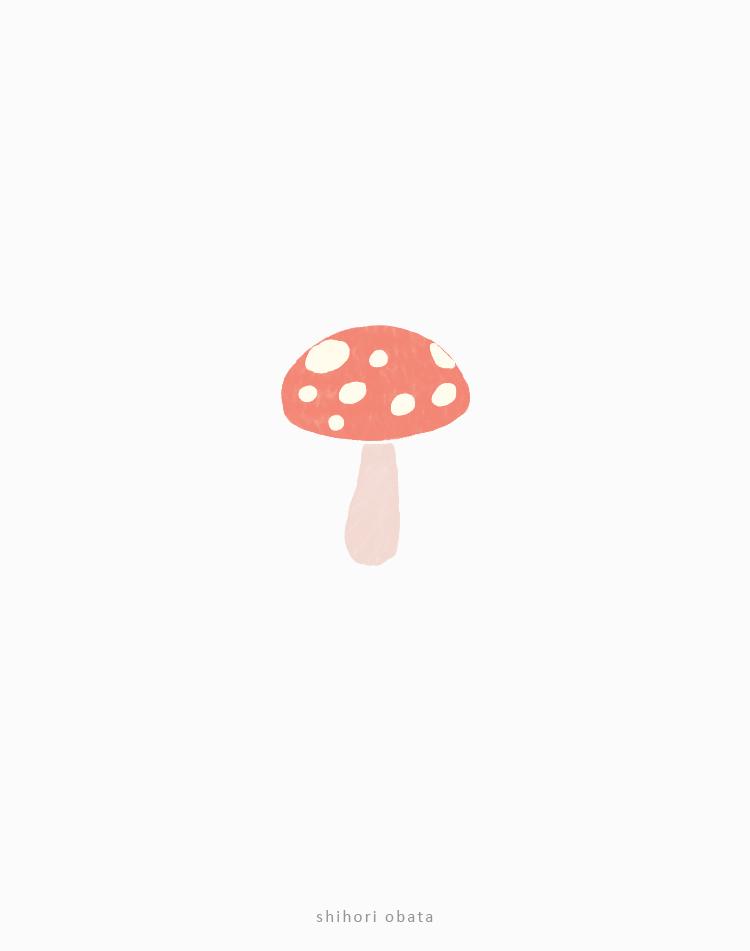 mushroom drawing easy