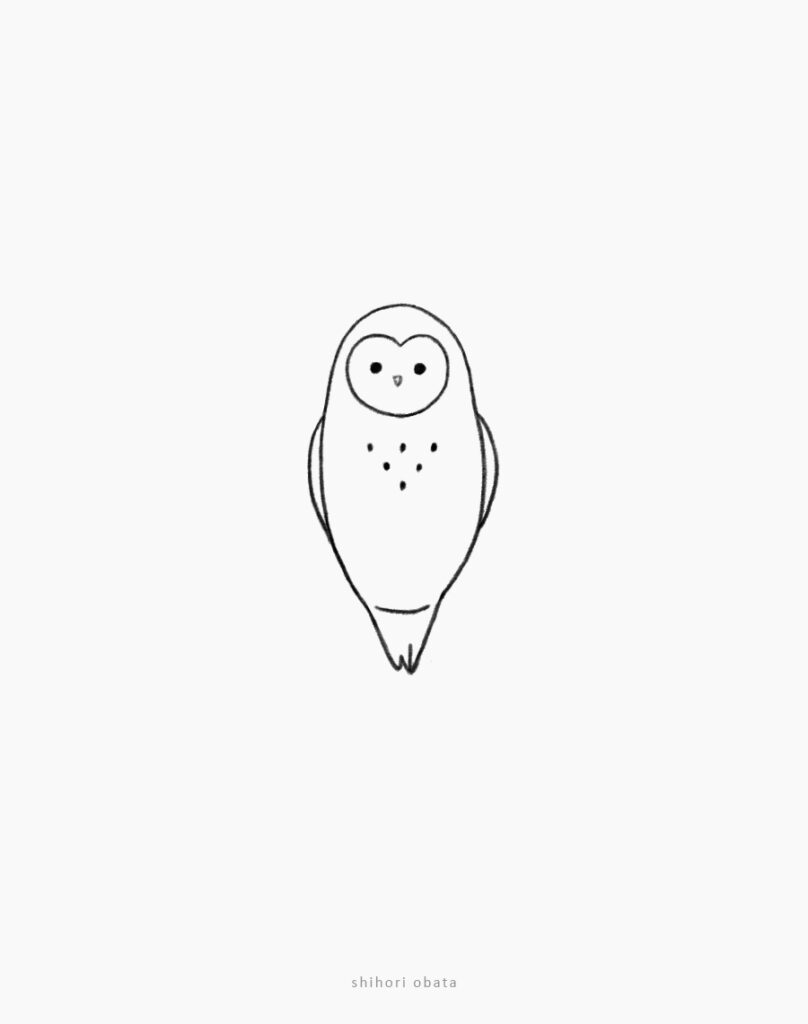 owl drawing easy