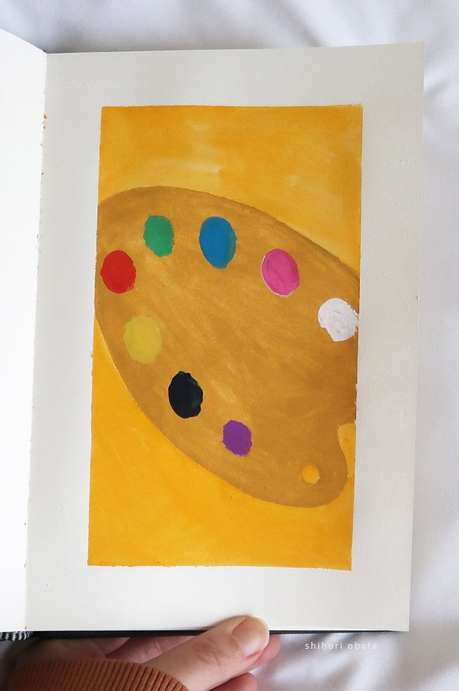 paint palette painting easy