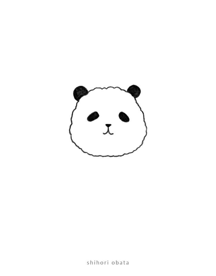 panda easy drawing