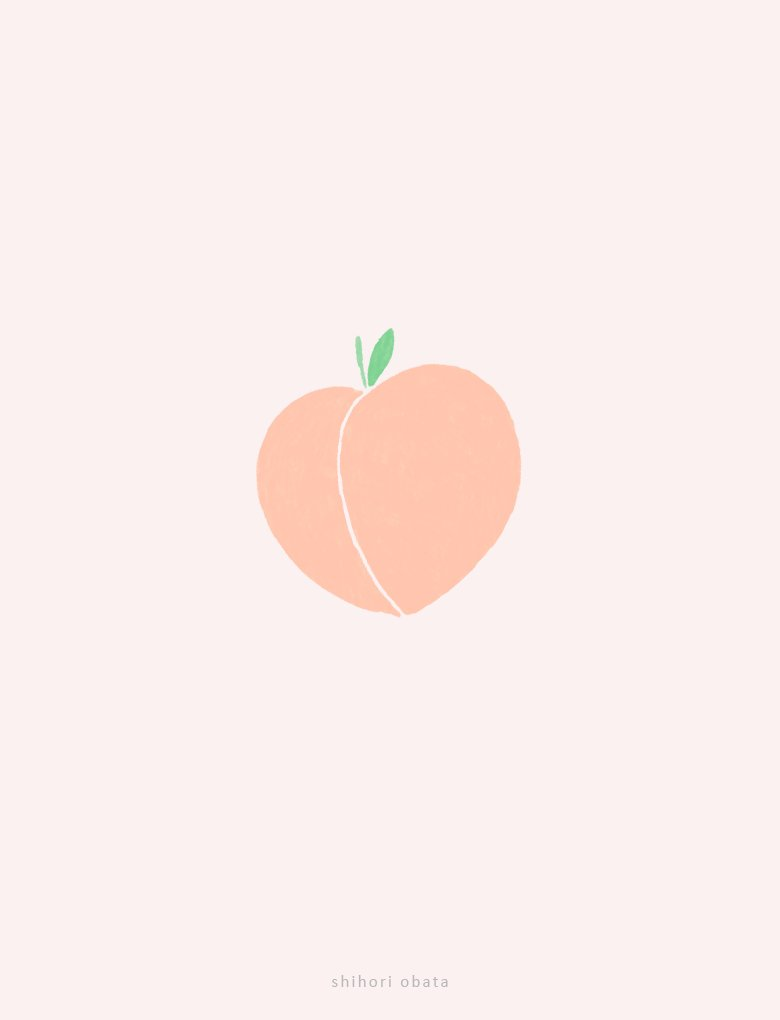 easy simple peach drawing