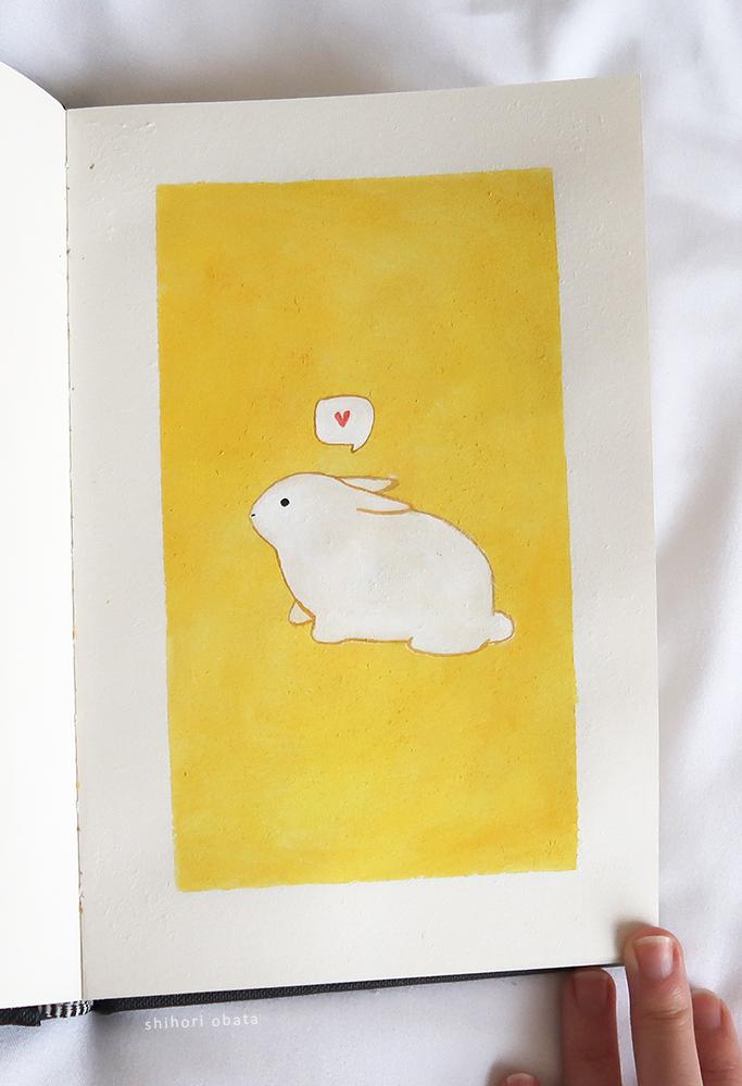 easy rabbit bunny painting