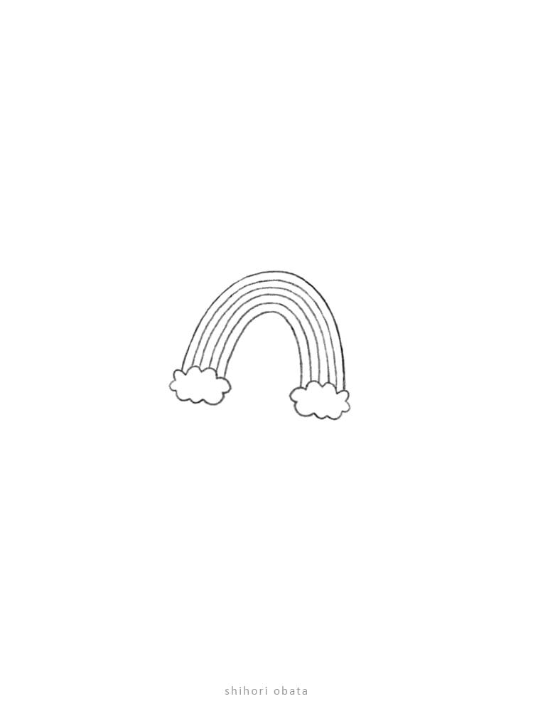 rainbow drawing simple