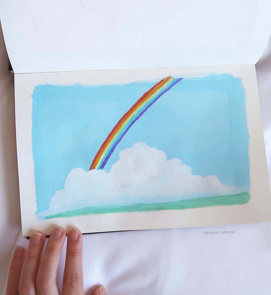 easy rainbow painting