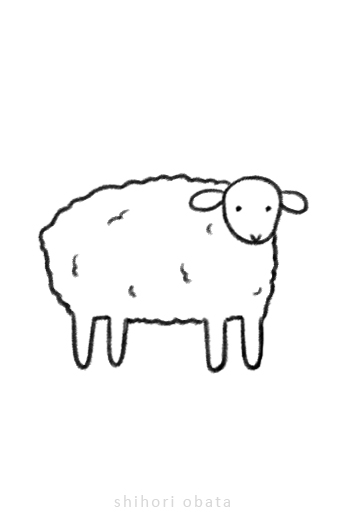 sheep drawing easy