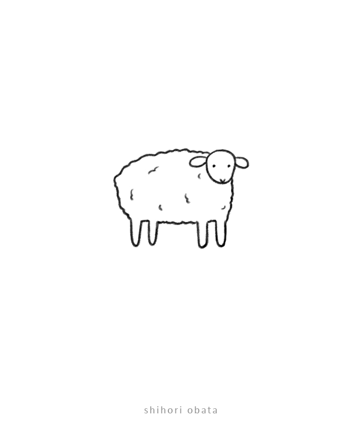 sheep drawing easy animal doodle