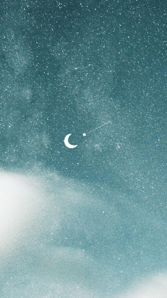 aesthetic phone wallpaper moon
