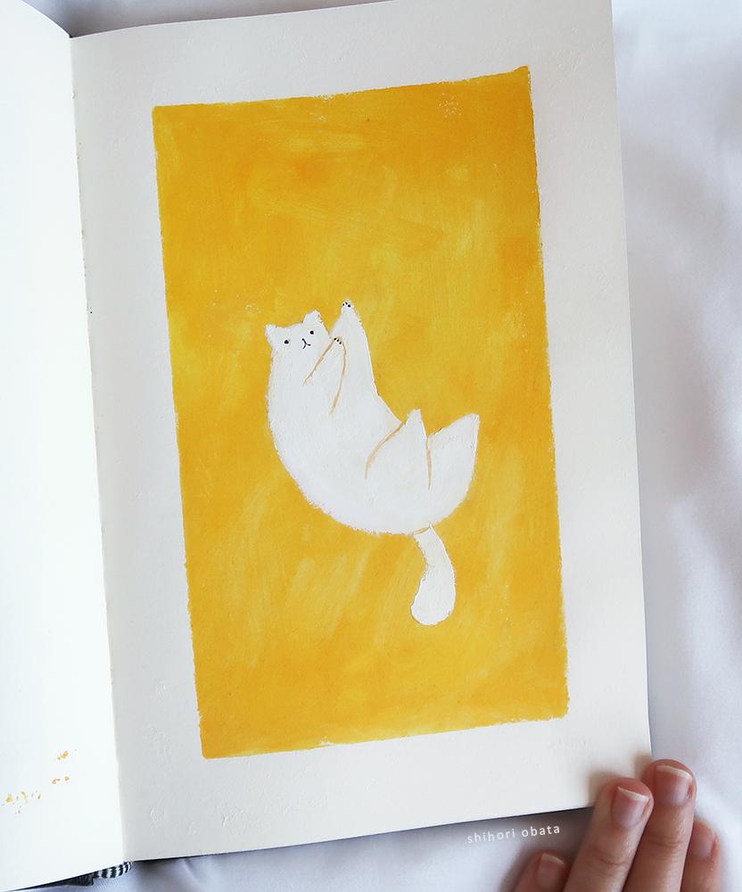 easy cute cat painting