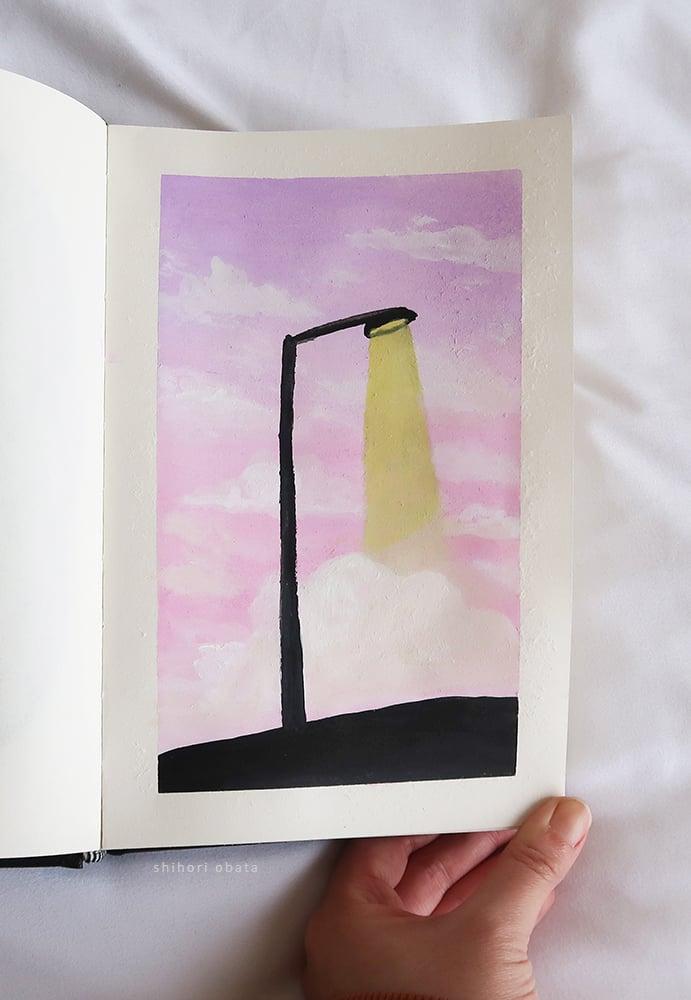 street light painting gouache