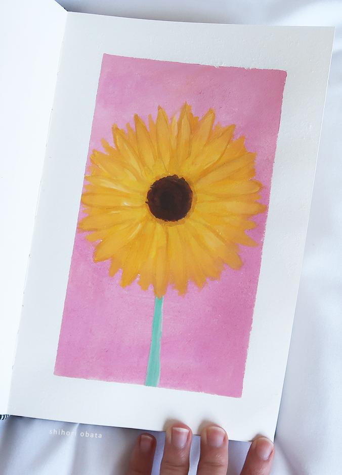 flower painting sunflower