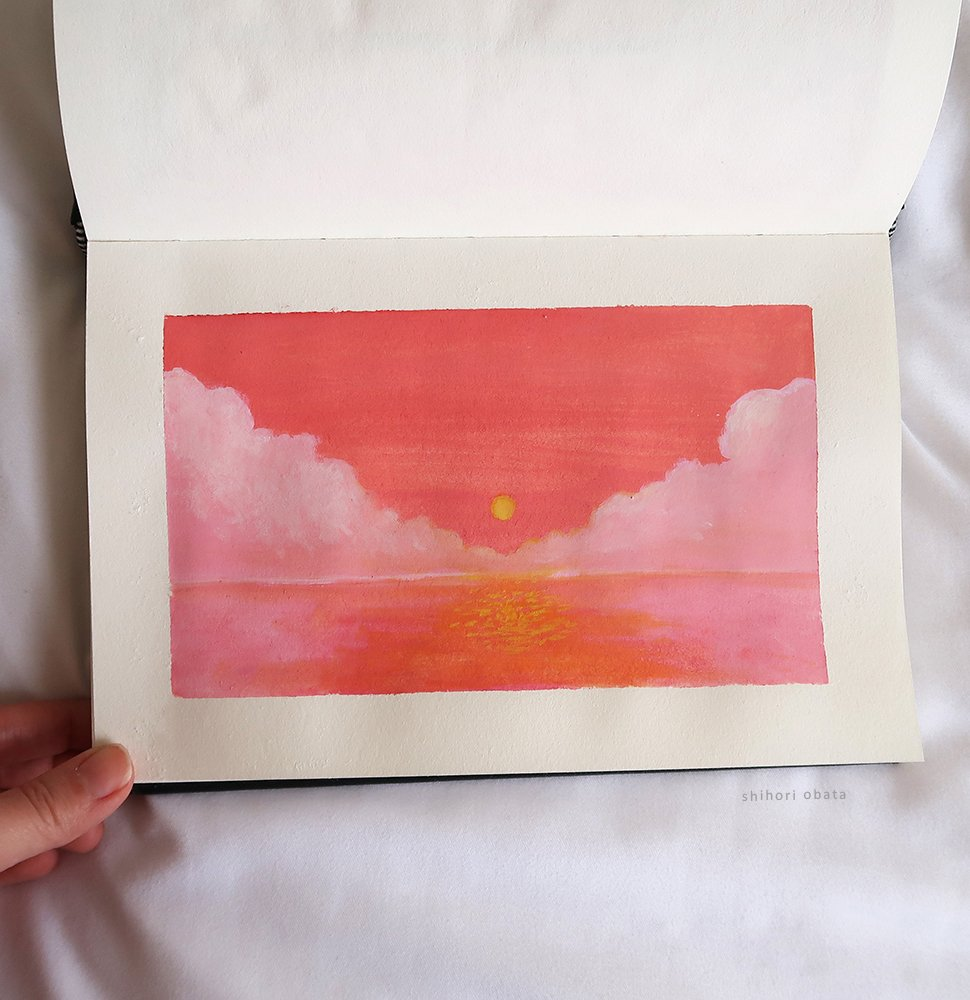 sunset painting easy things to paint