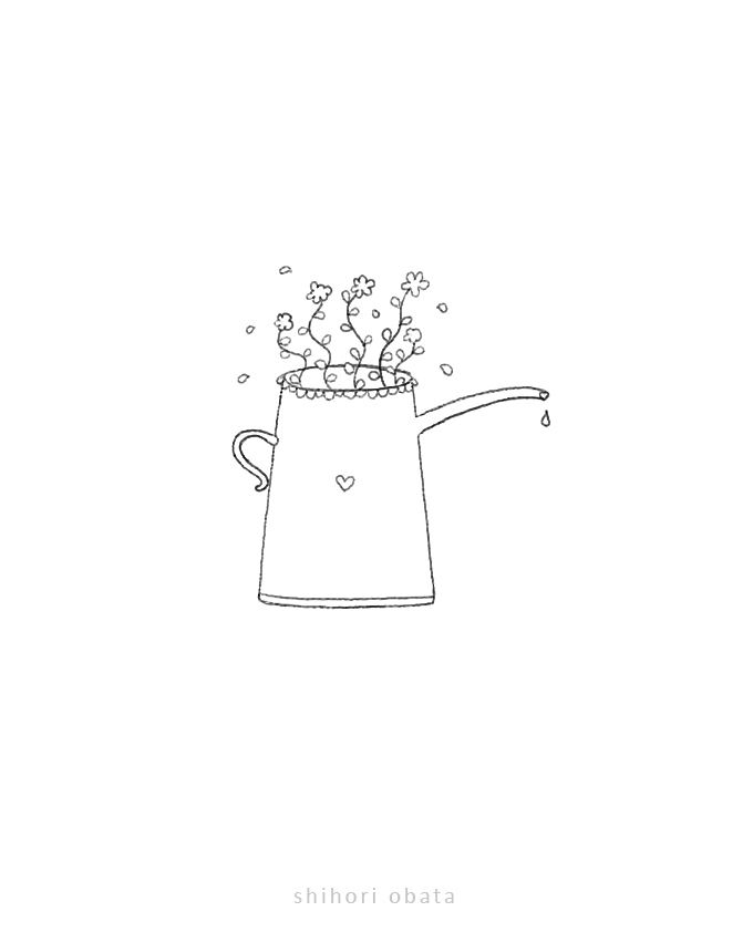 watering can drawing easy