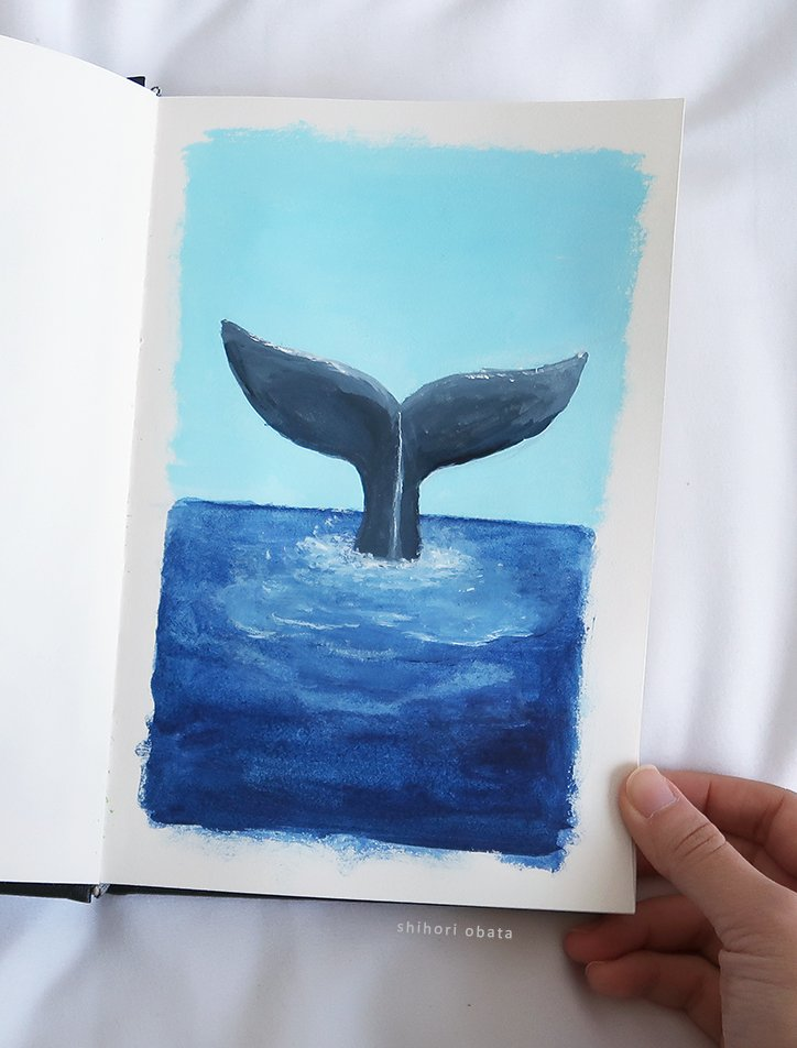 easy whale tail painting