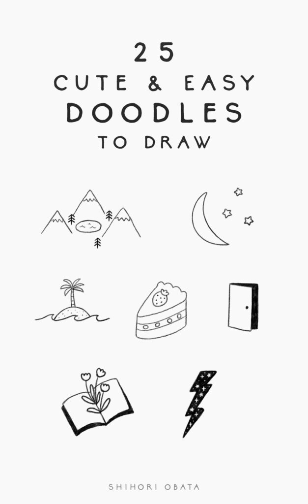 25 cute and easy doodles to draw