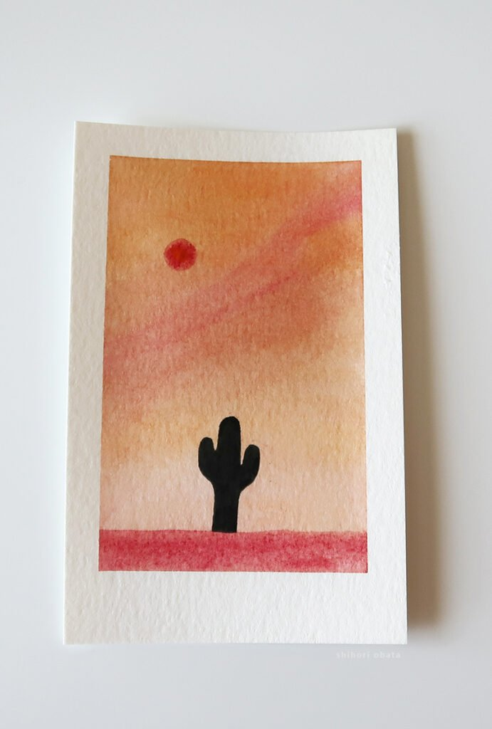 cactus watercolor painting