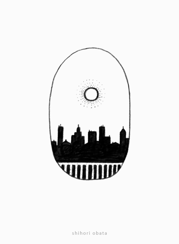city skyline drawing