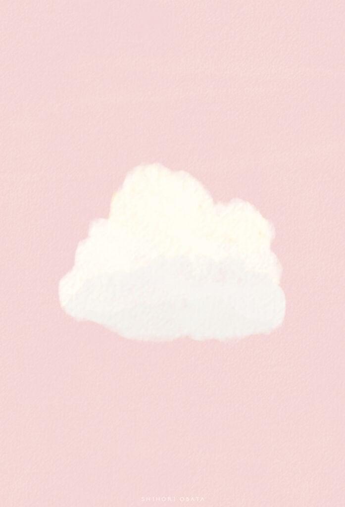 cloud drawing simple digital illustration