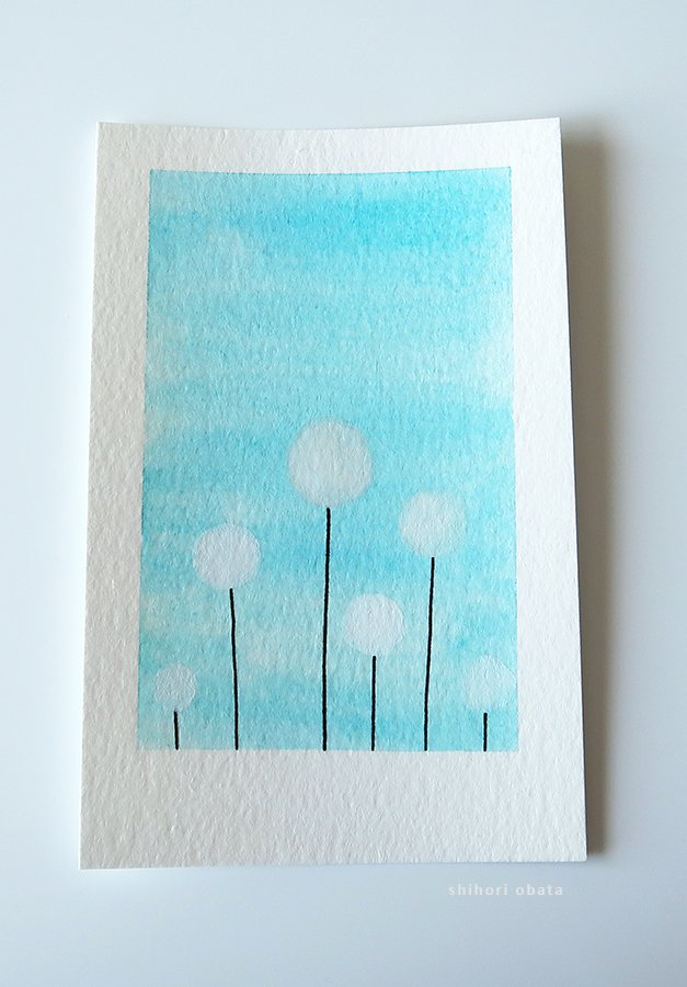 dandelion watercolor painting