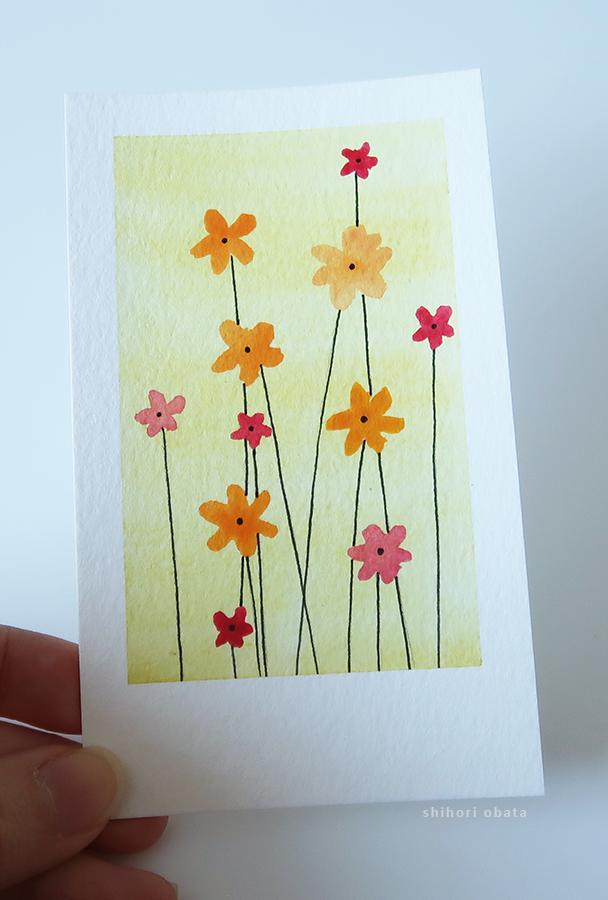 flower easy watercolor painting