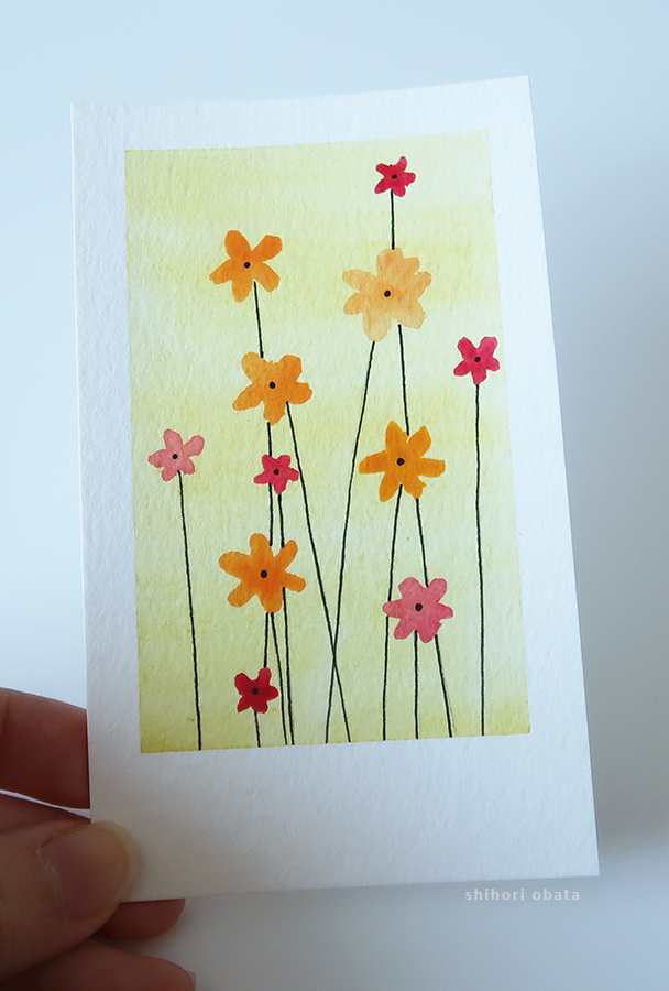 flower easy watercolor painting